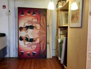 Paintings in storage