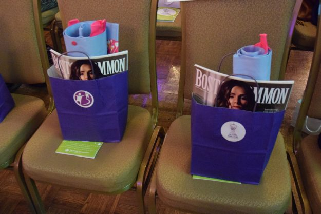 Boston Improper goodie bags on seats. Taken by Temi Adeleye.